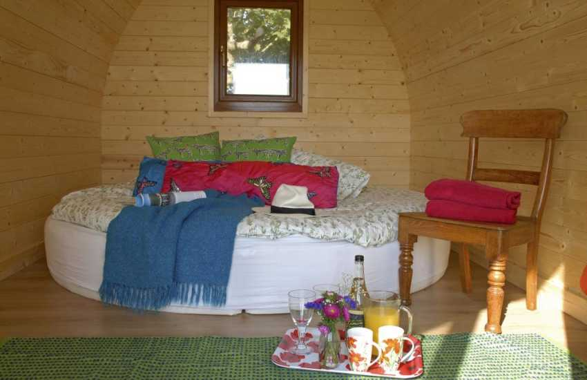 St Davids - cosy log pod for two in the gardens of St Justinian's