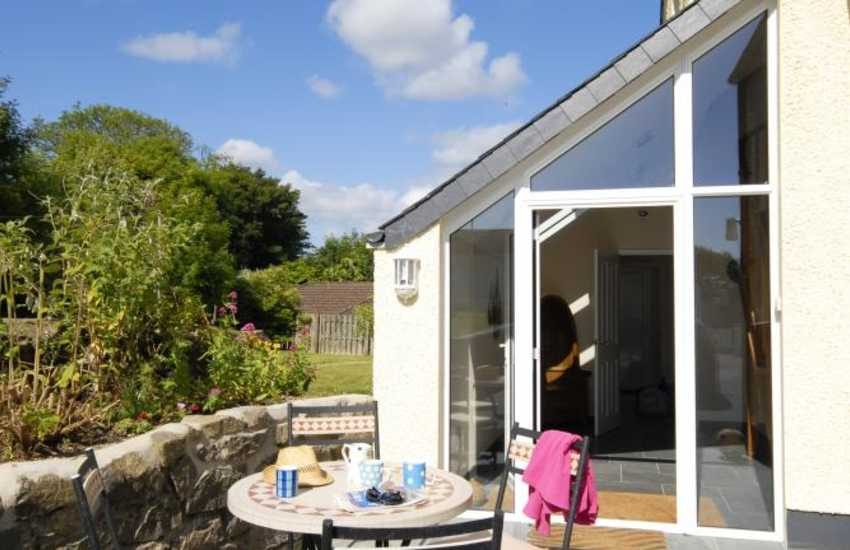 Coastal home for holidays in Wales - patio