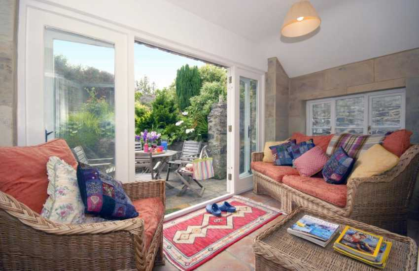 Holiday cottage in the Pembrokeshire Coast National Park - South facing sunroom