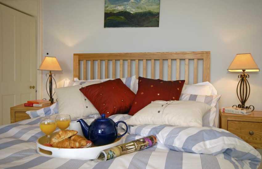 Coastal Pembrokeshire farmhouse - tea in bed