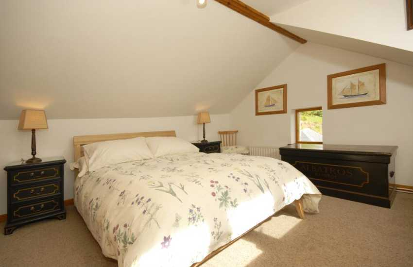 Double room with views over the Teifi River