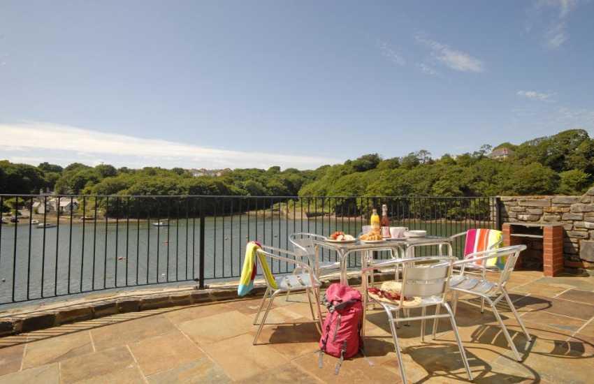 Pet friendly luxury holiday home overlooking the Haven Secret Waterway - terrace