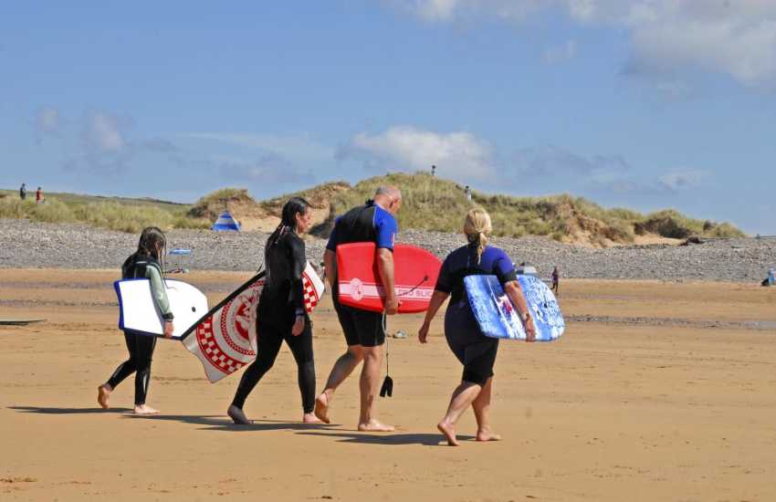 Pembrokeshire is great for all kinds water sports, try sea kayaking, windsurfing, yachting, diving or surfing down at Freshwater West