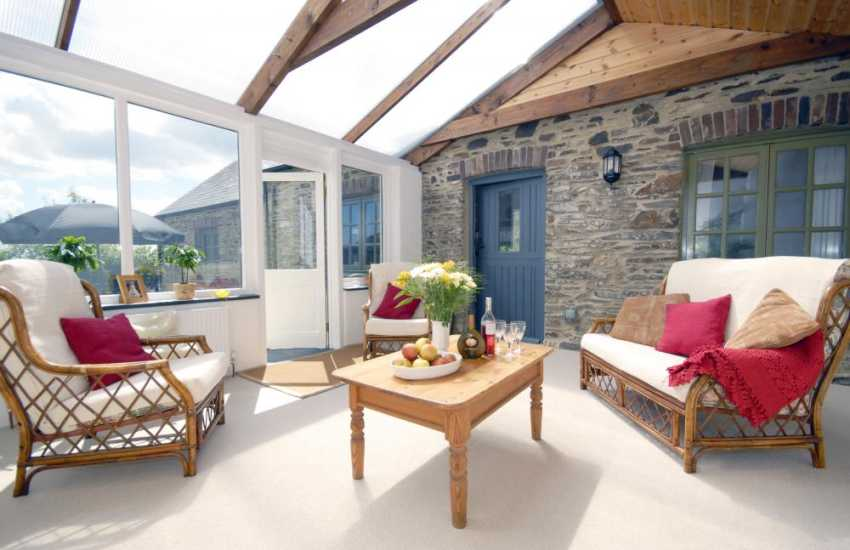 Holiday cottage near St Davids - conservatory