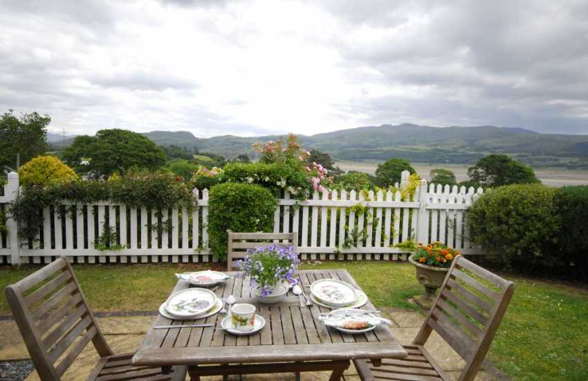 Lovely views from the garden of Fron Cottage