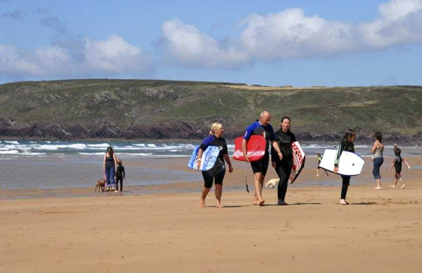 Surfs up on the South Pembrokeshire coast