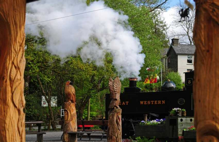 Magnificent steam train journey between Aberystwyth and Devils Bridge