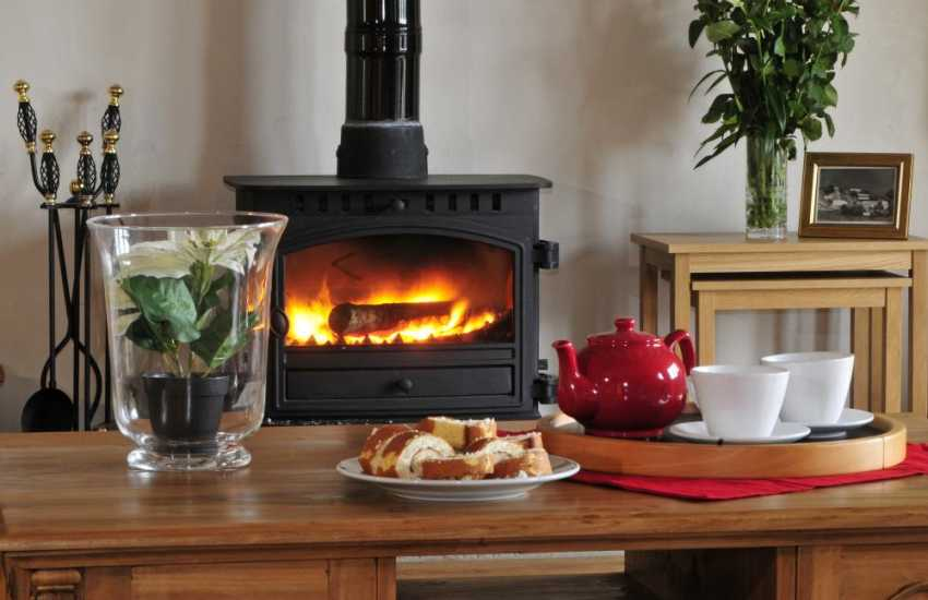 Accommodation for 25 Wales - wood burner --
