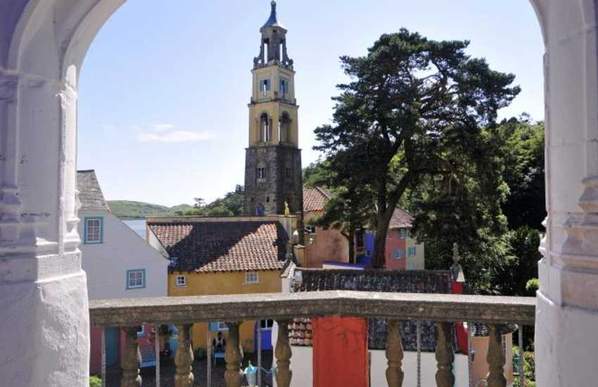 Portmeirion Italian style village with shops and cafes