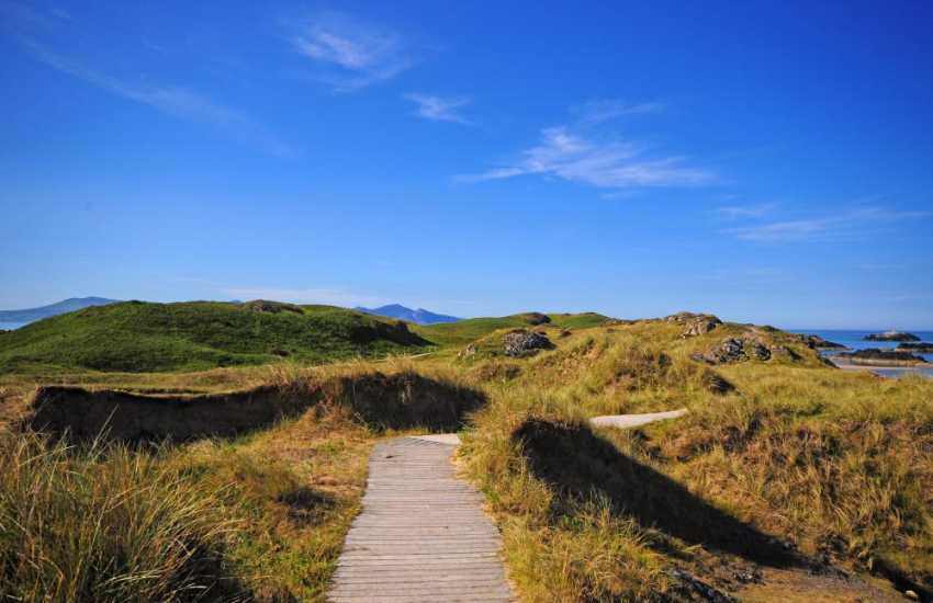Newborough Warren forest and beach walks Anglesey