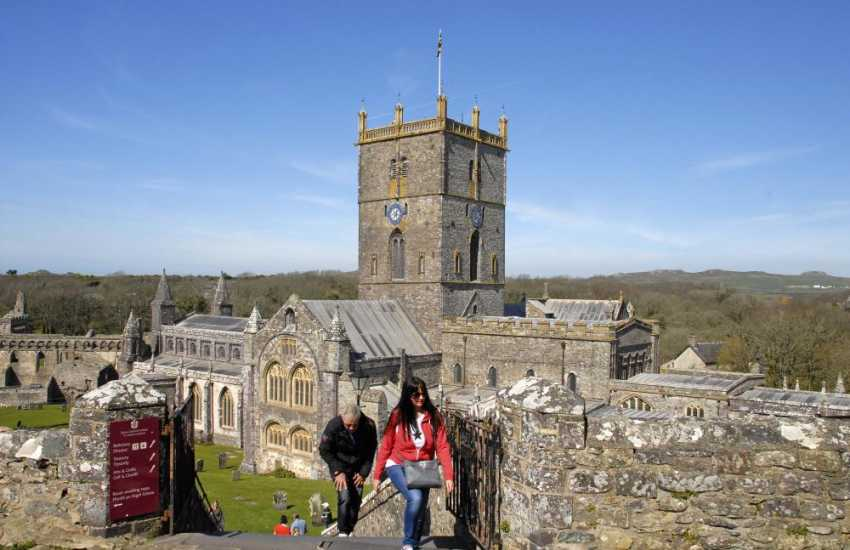 St Davids is Britain's smallest city with a magnificent cathedral and ruined Bishop's Palace at its heart