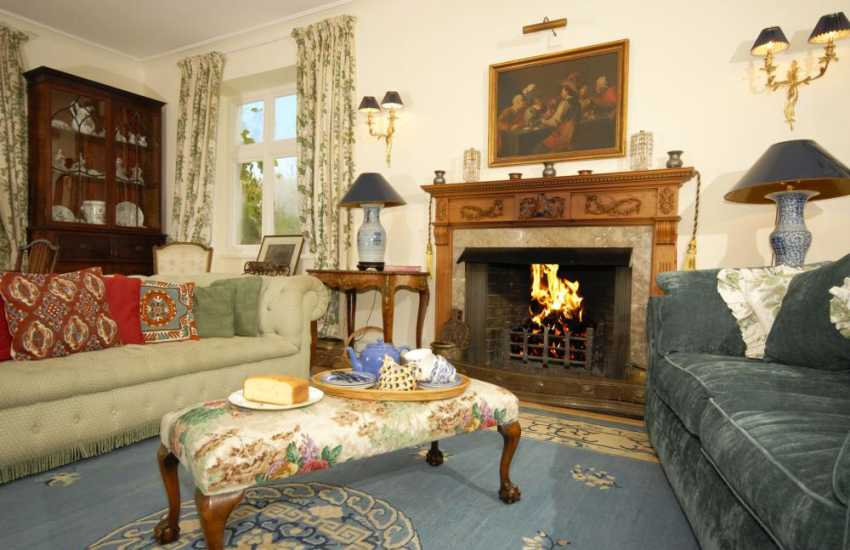 Edwardian country home on the River Tywi with open log fires