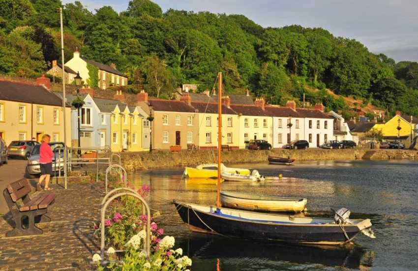 Fishguards Lower Town - go crabbing or stroll along the harbour wall and finish up with tea in the Quayside Cafe