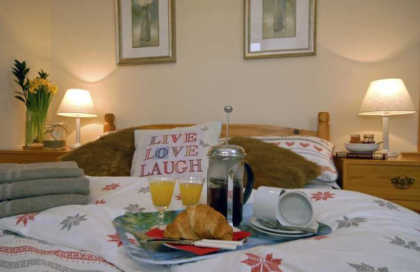 Pembroke town holiday cottage - breakfast in bed