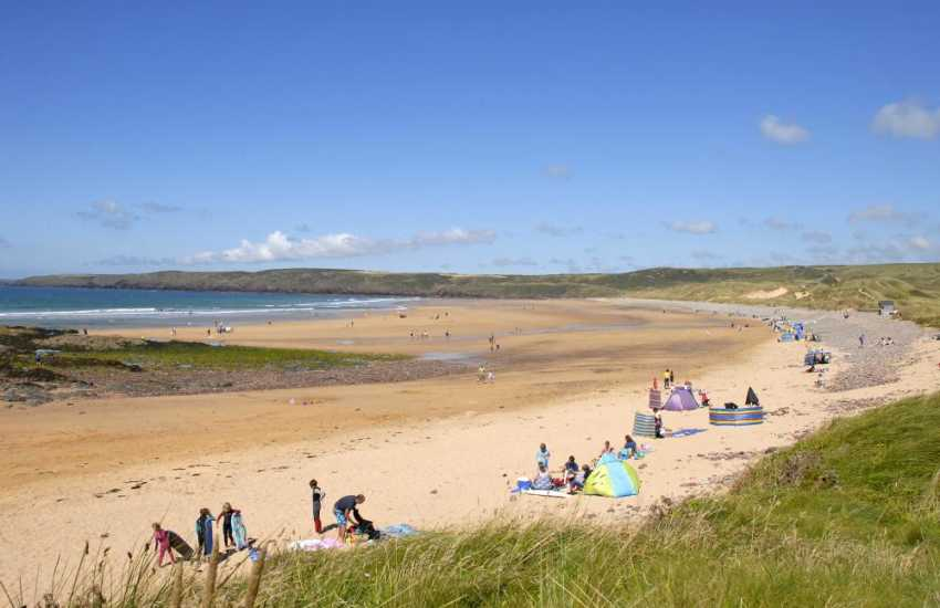Freshwater West - a beautiful stretch of golden sands very popular with families and water sport enthusiasts
