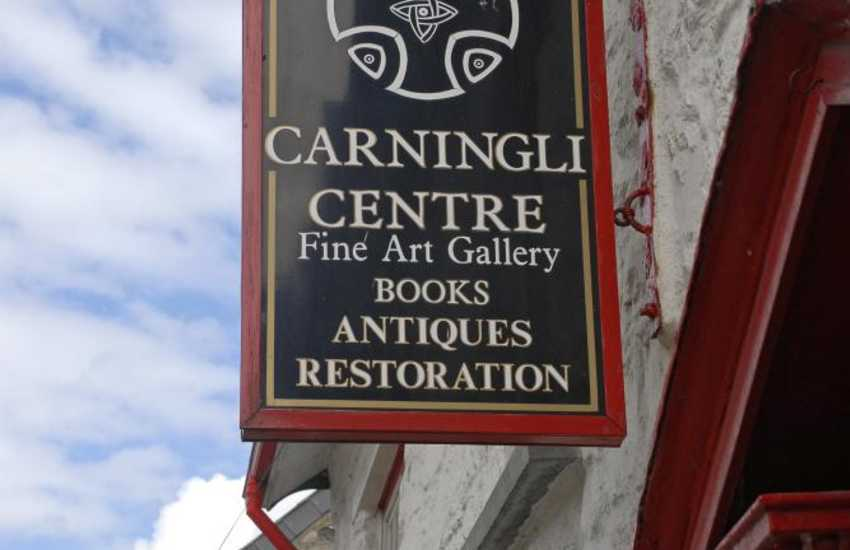 Do browse in the Carningli Antique Centre - Welsh furniture, paintings, oil lamps, vintage tools, enamel signs and all sorts - fascinating!