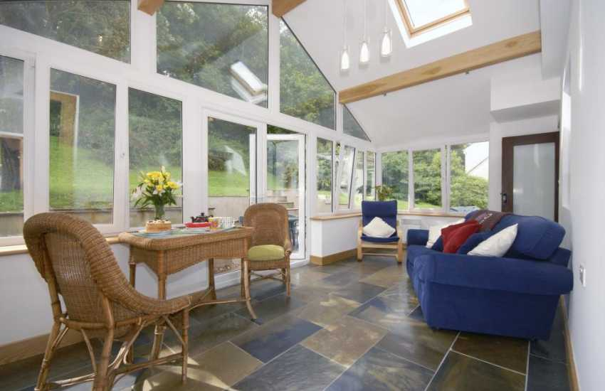 Dale holiday home -  spacious conservatory overlooking rear garden