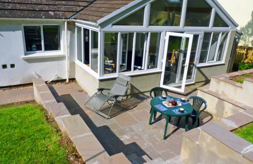 House for holidays in Dale, Pembrokeshire - conservatory