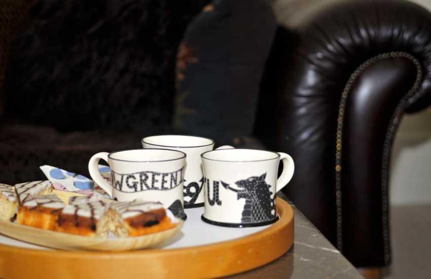 Menai holiday home-lounge tea and cake