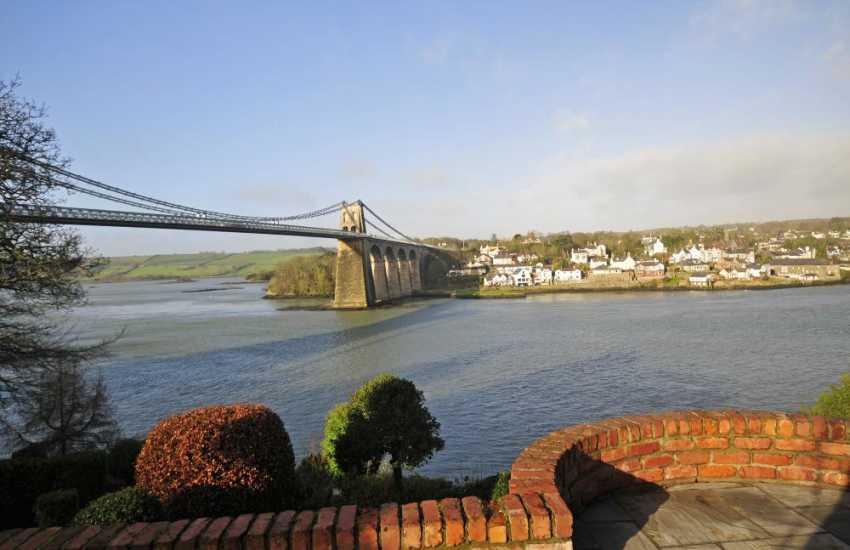 Bangor holiday home views of Anglesey