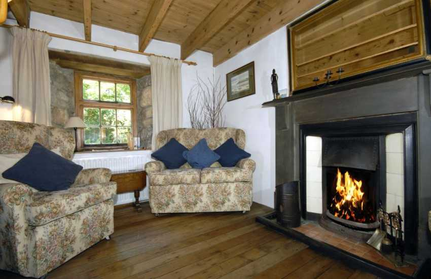 Nevern Estuary holiday cottage - snug with open coal fire