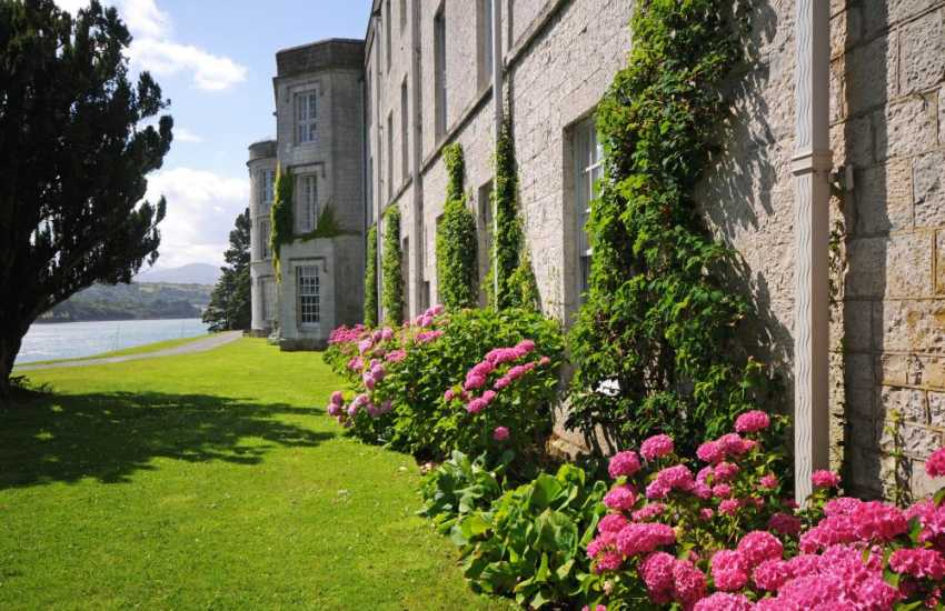 Plas Newydd house and gardens on the Menai Strait