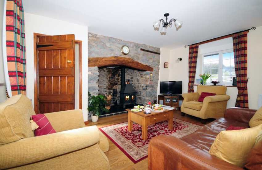 Mid Wales holiday cottage with wood burner - lounge