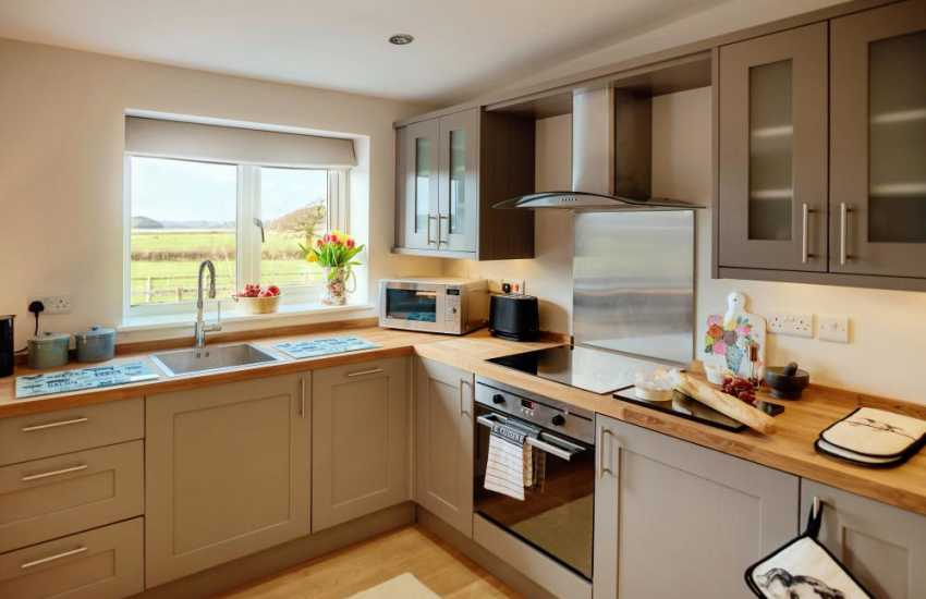 Llanybri for holiday in Wales-kitchen