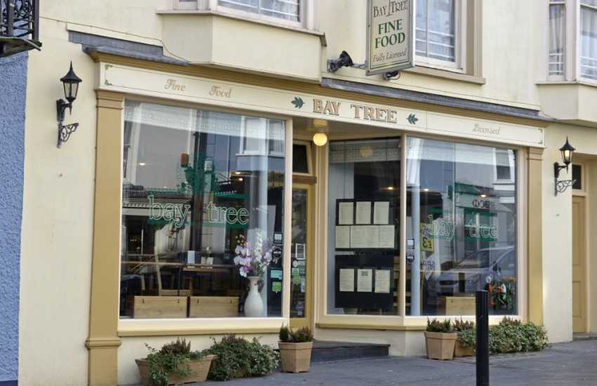 The Baytree restaurant can be found right in the middle of Tenby, with a large varied menu including local seafood