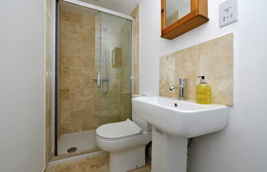 Solva holiday cottage - family double walk-in shower