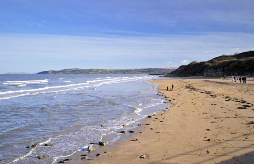 The golden sands of Benllech beach