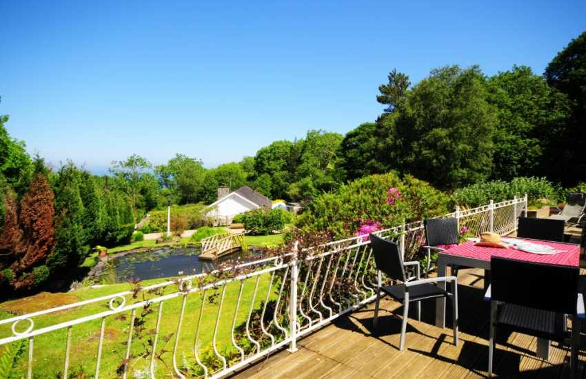 Holiday cottage garden with sea views