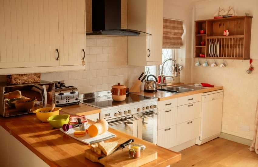 Holiday apartment  near Three cliffs bay on the Gower Peninsula - kitchen