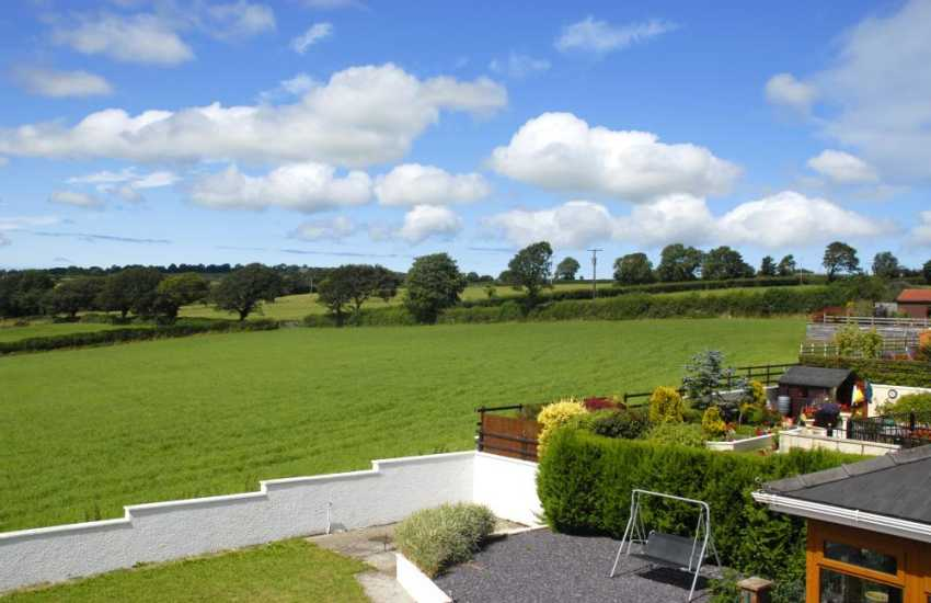 Wonderful views over the garden and rolling countryside from the first floor bedrooms