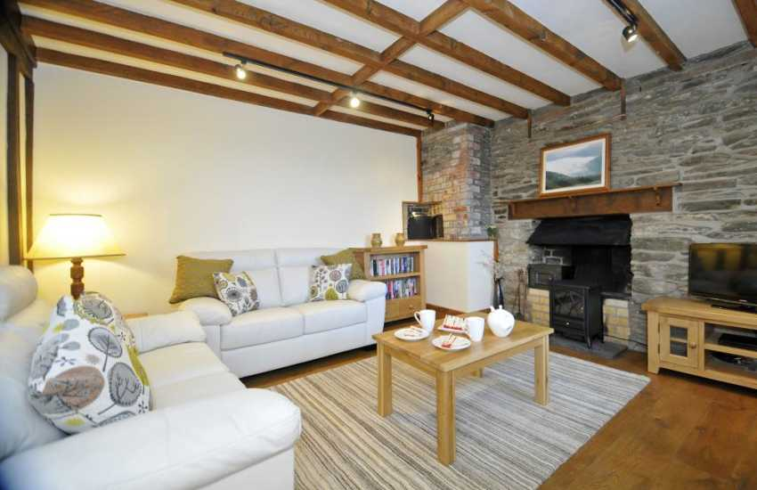 Holiday cottage Elan Valley – lounge (electric fire)