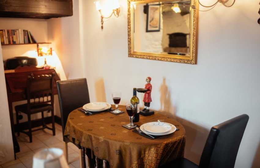 Romantic Welsh cottage holiday for two - dining