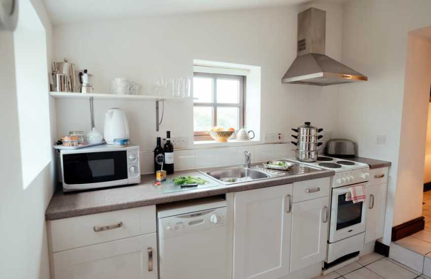 Gower Peninsula cottage holiday for two pet friendly - kitchen