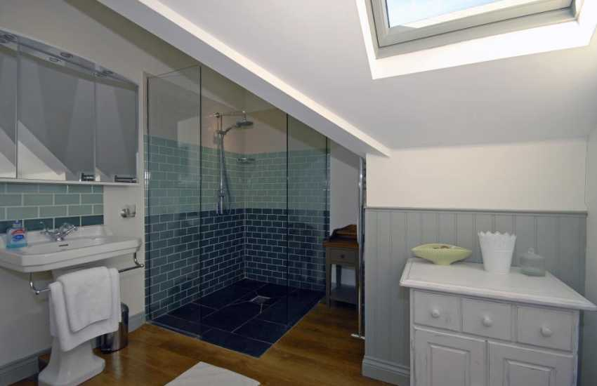 Burton Ferry holiday house - double en-suite shower room