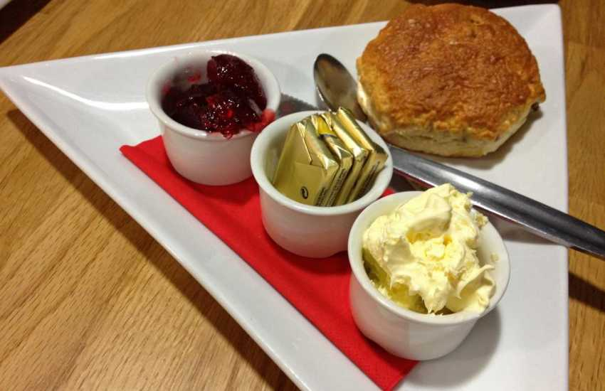 Pembroke has a variety of places to eat - treat yourself to a cream tea!