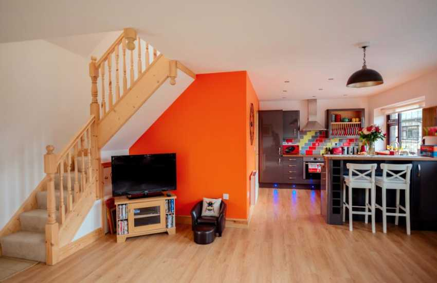 Dinefwr Park and Castle sort drive from holiday cottage sleeping 4 - open plan