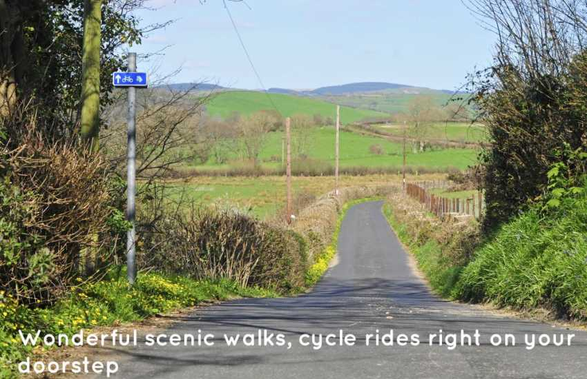 Holiday cottage Wales, walks and cycle rides