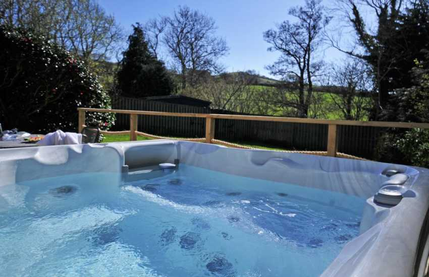 Cottage with hot tub -  view