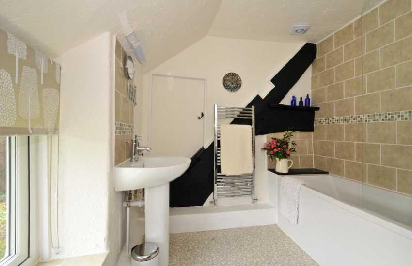 Corwen holiday cottage - bathroom