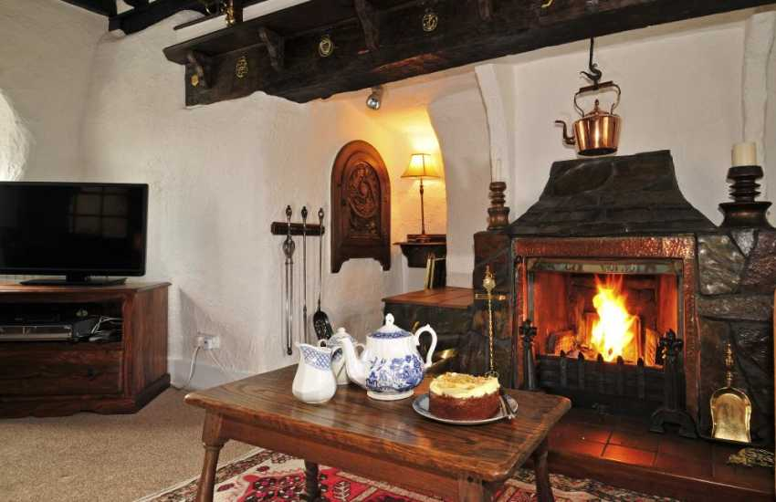 Holiday cottage Corwen - fire