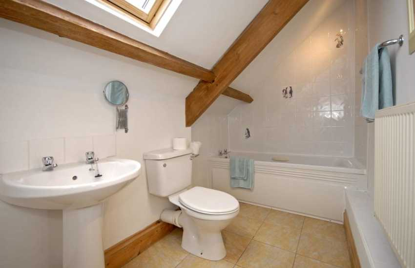 Pembrokeshire holiday cottage - master en-suite bathroom