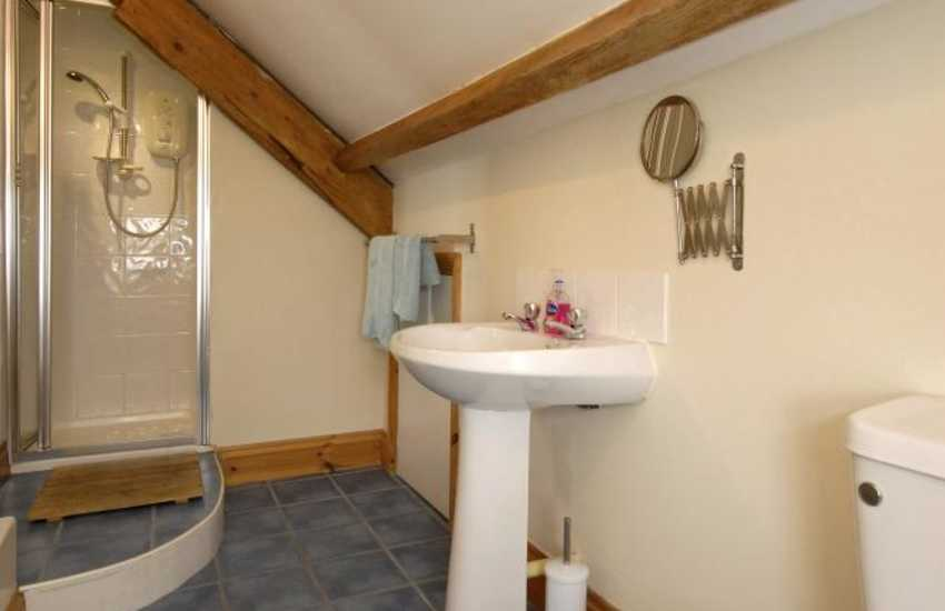 Pembrokeshire holiday cottage - twin en-suite bathroom