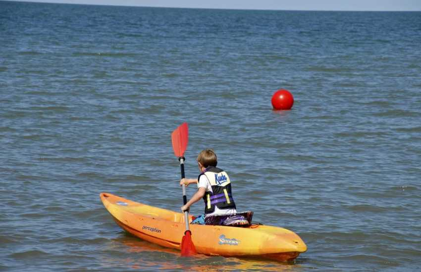 The Pembrokeshire Coast is ideal for kayaking - fun for all ages!