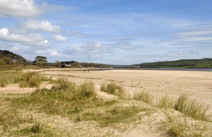Llansteffan Beach is Wales' best kept secret - a fantastic dog walking beach on the edge of the Towy Estuary