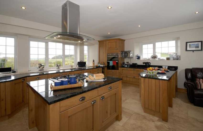 Carmarthenshire self-catering large family home - luxury open plan kitchen/dining