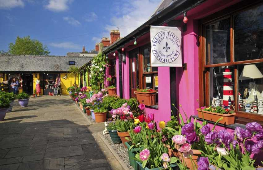 Quaint shops in Beaumaris Market Square